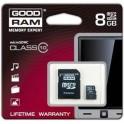 Карта памяти Goodram microSDHC 8GB Class 10 + adapter