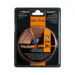 Многожильный акустический кабель MYSTERY MSC -15/10, 10 м в блистере,15 Ga,2х1,5 мм