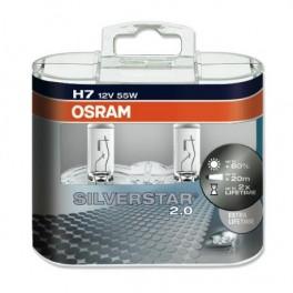 Автомобильные лампы Osram Silverstar 2.0 H7 +60%
